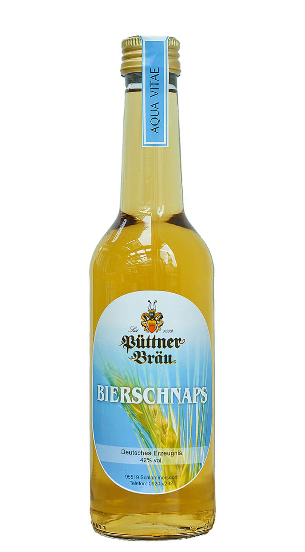 Der Püttner-Bierschnaps, hergestellt in unserer Schnapsbrennerei aus unseren Bieren